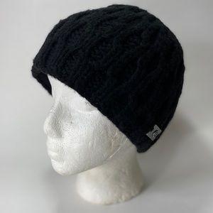 Lululemon black lambswool blend knit beanie hat